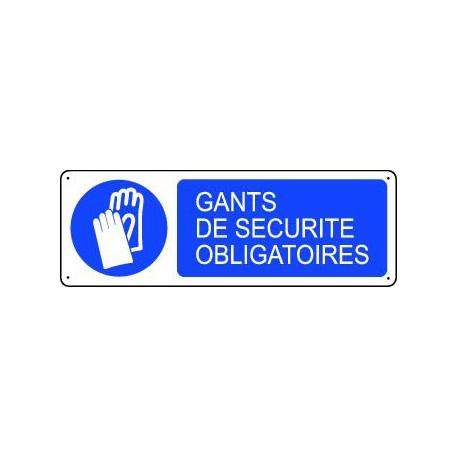 Panneau d'obligation GANTS DE SECURITE OBLIGATOIRES
