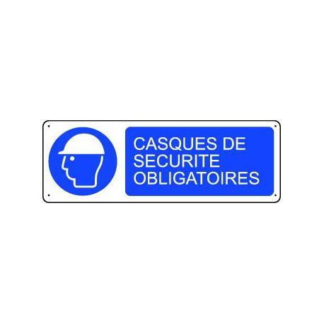 Panneau d'obligation CASQUES DE SECURITE OBLIGATOIRES