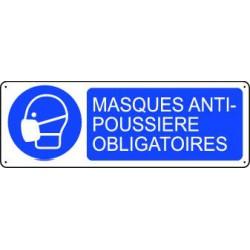 Panneau d'obligation MASQUES ANTI-POUSSIERE OBLIGATOIRES