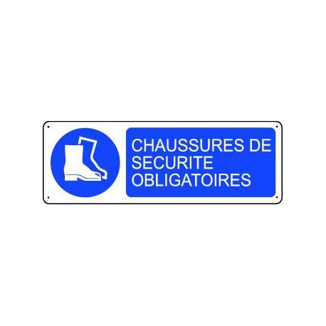 PANNEAU D'OBLIGATION CHAUSSURES DE SECURITE OBLIGATOIRES