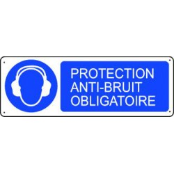 Panneau d'obligation PROTECTION ANTI-BRUIT OBLIGATOIRE