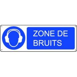 Panneau d'obligation ZONE DE BRUITS