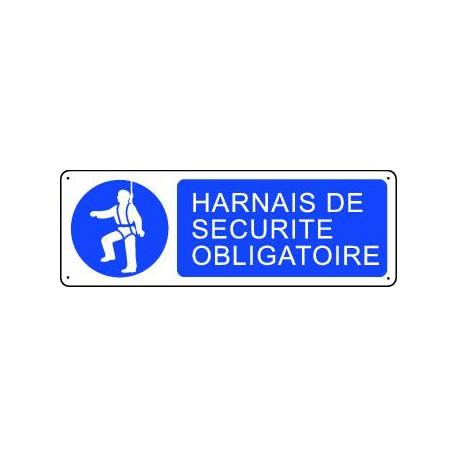 Panneau d'obligation HARNAIS DE SECURITE OBLIGATOIRE