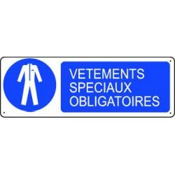 Panneau d'obligation VETEMENTS SPECIAUX OBLIGATOIRES