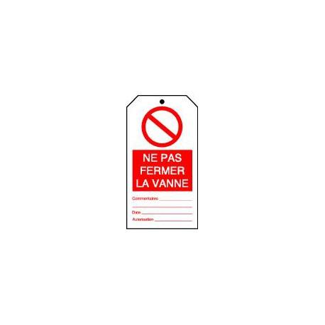 Etiquettes de sécurité double face à compléter