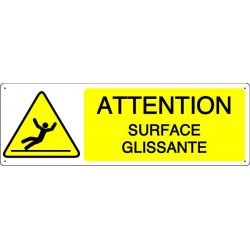 ATTENTION SURFACE GLISSANTE