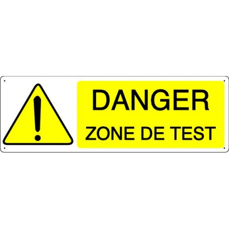 DANGER ZONE DE TEST