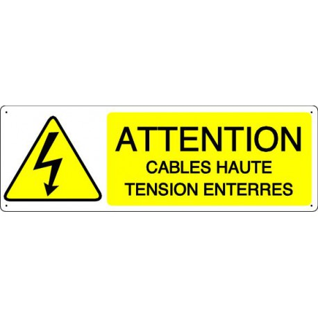 ATTENTION CABLES HAUTE TENSION ENTERRES