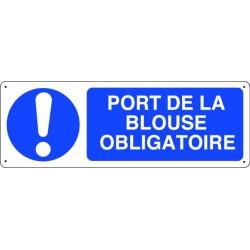 Panneau d'obligation PORT DE LA BLOUSE OBLIGATOIRE