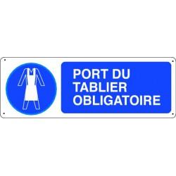 Panneau d'obligation PORT DU TABLIER OBLIGATOIRE