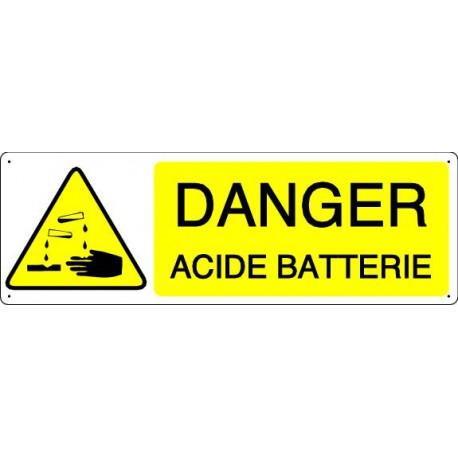 DANGER ACIDE BATTERIE