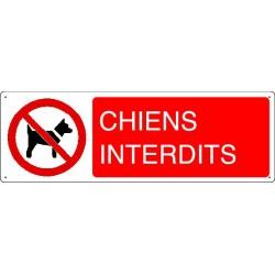 Panneau d'interdiction CHIENS INTERDITS