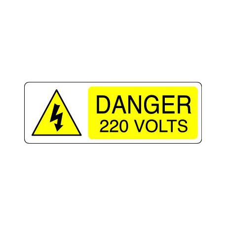 DANGER 220 VOLTS