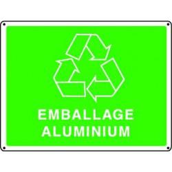 Panneau recyclage EMBALLAGE ALUMINIUM