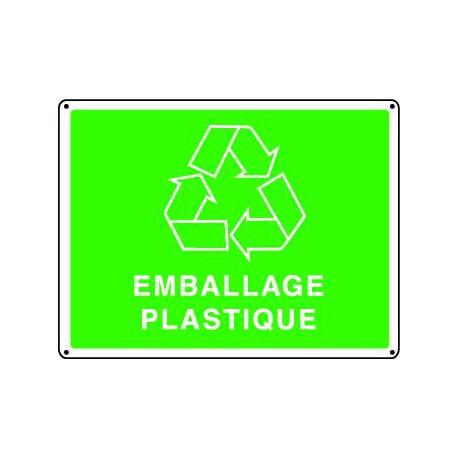 Panneau recyclage EMBALLAGE PLASTIQUE
