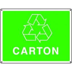 Panneau recyclage CARTON