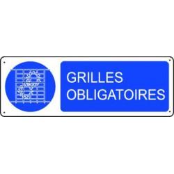 Panneau d'obligation GRILLES OBLIGATOIRES