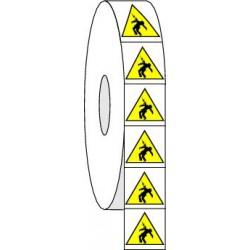 Pictogrammes adhésifs de danger d'électrocution