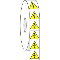 Pictogrammes adhésifs de danger électricité