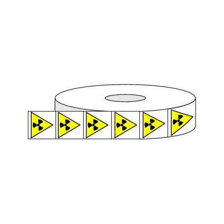 Pictogrammes adhésifs de danger matières radioactives ou radiations ionisantes