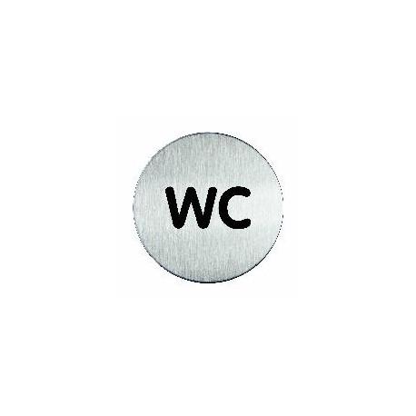 Plaque signalétique gamme Inox, ø 80 mm