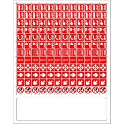 144 mini-pictogrammes INCENDIE