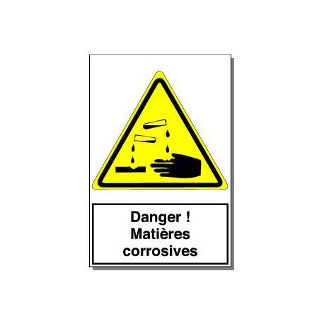 DANGER MATIERES CORROSIVES