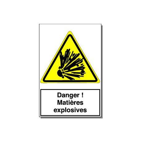 DANGR MATIERES EXPLOSIVES