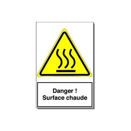 DANGER SURFACE CHAUDE