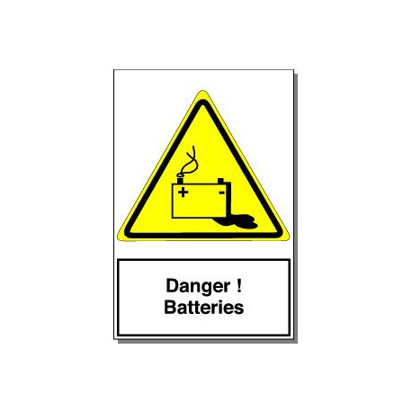 DANGER BATTERIES