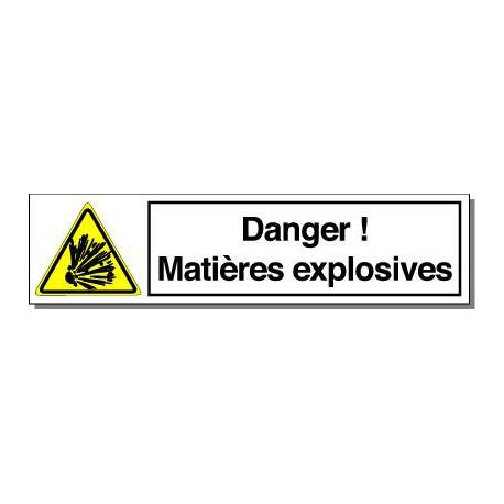 DANGER MATIERES EXPLOSIVES