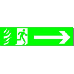 Evacuation vers la Droite, rigide adhésivé