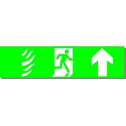 Evacuation Devant, rigide adhésivé