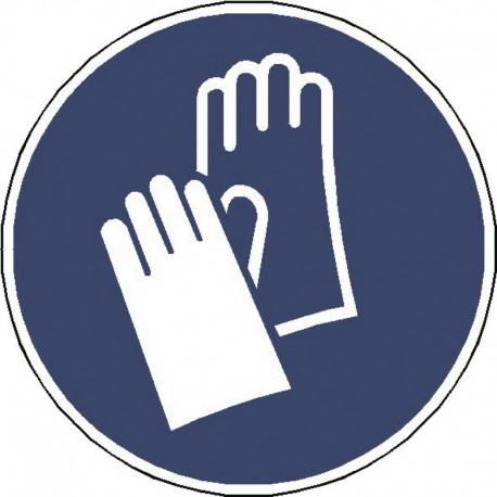 Panneau Gants de Protection Obligatoire