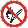 Panneau Flammes nues et feux interdits