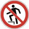 Panneau Interdiction de Marcher sur la Surface