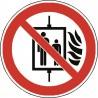 Panneau Interdiction d'Utiliser l'Ascenseur en cas d'Incendie