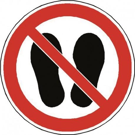Panneau Ne Pas Marcher ou Stationner à cet endroit