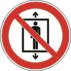 Ne pas utiliser cet ascenseur pour des personnes