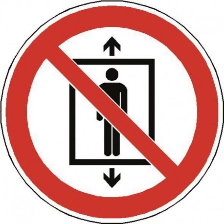 Panneau Ne pas utiliser cet ascenseur pour des personnes