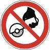 Panneau Ne pas utiliser avec une meuleuse portative
