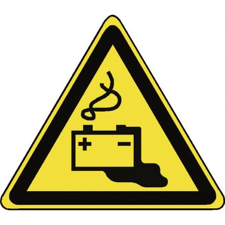 Panneau Danger Charge en cours de la batterie