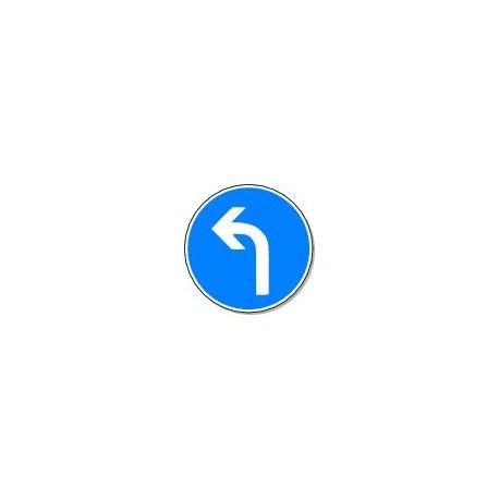 Panneau Direction Obligatoire à gauche