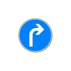 Panneau Direction Obligatoire à droite