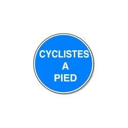 Panneau Cyclistes à pied