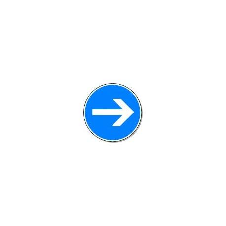 Panneau Direction Obligatoire vers la droite