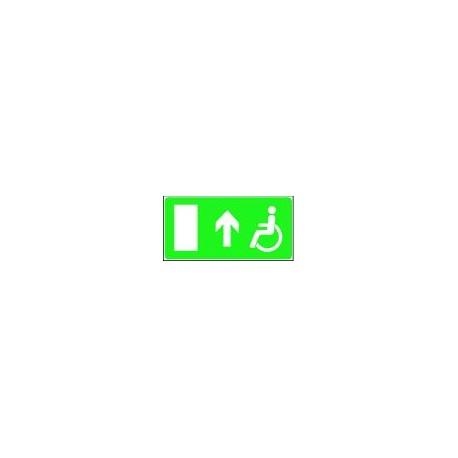 Panneau Handicapé Direction de Sortie Droite Devant