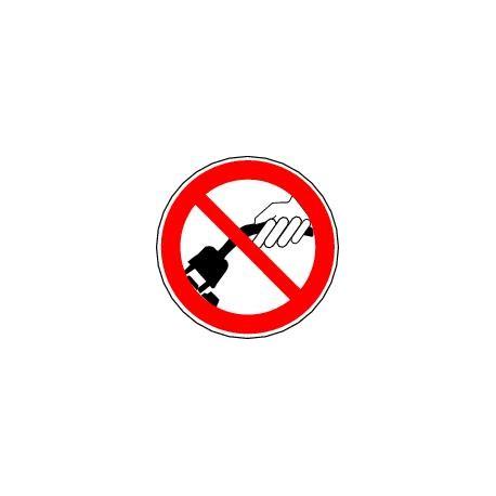 Panneau Ne pas tirer sur le câble