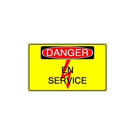 Panneau Danger En Service