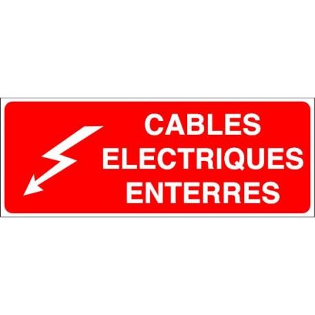 Panneau Cables Electriques Enterrés